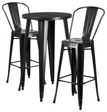 industrial pub table set round metal indoor outdoor bar table set with 2 cafe industrial bistro