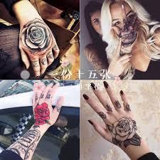 татуировки наклейки водонепроницаемый мужчины и женщины моделирование тыльной