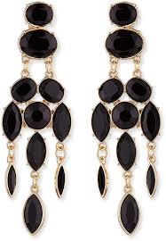 gold earrings jules smith designs jules smith black drop chandelier earrings