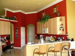 Painting For Kitchen Interior Terrific Pictures Of Red Paint For Kitchen Decorating