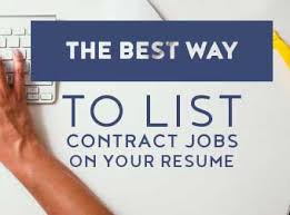 The Best Way To List Contract Jobs On Your Resume The Centrics Group