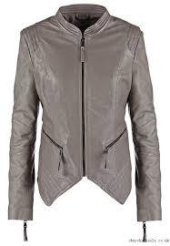 adapt leather leather jackets jacket dark grey stone alina tspga be edgy mail women
