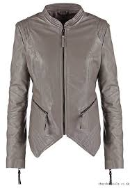adapt leather leather jackets jacket dark grey stone alina tspga be edgy mail women