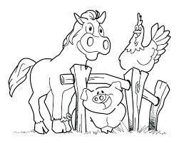 Coloring Pages Farm Animals