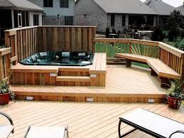 Hot Tub Backyard Ideas Plans Custom Design Ideas