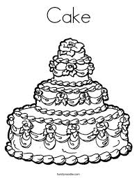 Small Picture Cake Coloring Page Twisty Noodle