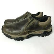 merrell moab rover moc kangaroo men s size 8 slip on leather hiking loafer shoes