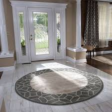 plain round kitchen rug with