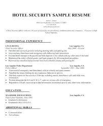 Fingerprint Specialist Sample Resume Custom Sample Security Resume Mmventuresco