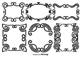 scroll works design ornamental decorative frames vector elements picture saw frame patterns free