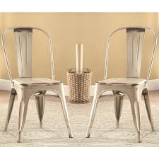 distressed metal furniture. Wonderful Rustic Metal Dining Chairs Vintage Distressed Creamwhite  Set Of Distressed Metal Furniture