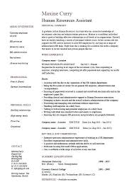 Human Resources Assistant Resume Objective Examples Human Resources