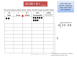 Draw Place Value Disks On The Place Value Chart 5th Grade Module 1 Lesson Ppt Video Online Download