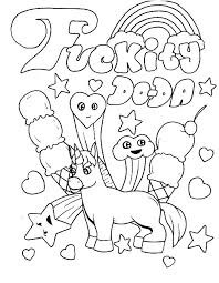 Swear Word Adult Coloring Pages At Getdrawingscom Free For