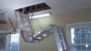 Folding Staircase Pull Down Staircase Cable Holders How To Install Pull Down Attic