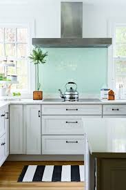 33 best glass tile inspirations images on blue outstanding white kitchen cabinets with backsplash
