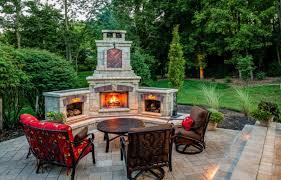 outdoorfireplacestonepatio backyard stone patios49