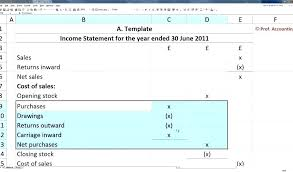 profit and loss account sample statement of account sample excel bigdatahero co