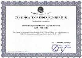 Welcome To Ijrsr | International Journal Of Recent Scientific Research