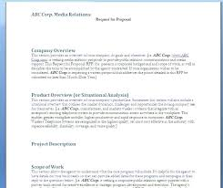 Simple Request For Proposal Example Request For Proposal Example ...