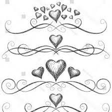 Heart Scrolls Decorative Vignettes Hearts Vintage Borders Scrolls Arenawp