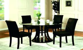 glass kitchen dinette sets chrome round glass dining table
