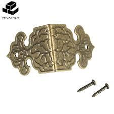 Decorative Jewelry Gift Boxes MTGATHER 60pcs Antique Brass Corner Bracket Jewelry Gift Box Wood 41