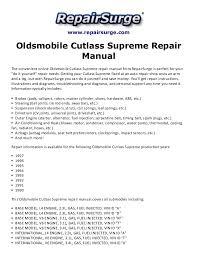 oldsmobile cutlass supreme repair manual 1990 1997 repairsurge com oldsmobile cutlass supreme repair manual the convenient online oldsmobile cutlass supreme