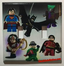Superhero Light Switch Cover Lego Superhero Characters Batman Superman Wonder Woman