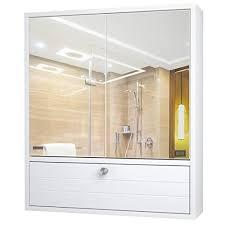 tangkula bathroom mirror cabinet