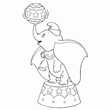 Dumbo Het Vliegende Olifantje Kleurplaat Printen Leuk Voor Kids