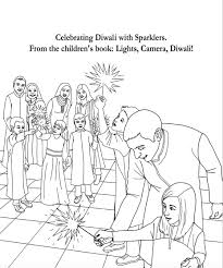 Small Picture Diwali Coloring Pages From the Book Lights Camera Diwali