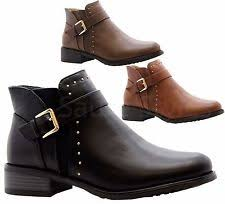 office shoes dublin. Ladies Womens Casual Block Heels Flat Ankle Chelsea Boots Work Office Shoes Size Dublin