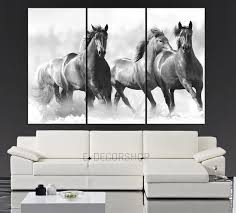 on large 3 panel wall art with large wall art running wild horses canvas from mycanvasprint