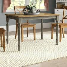 round dining table wooden legs rectangular glass wood base frame solid reviews birch lane kitchen winsome remarkable
