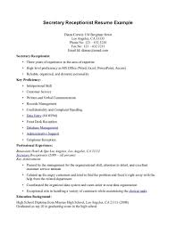 Medical Receptionist Resume New Medical Receptionist Resume Example