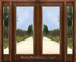 glass double front door. Glass Double Front Doors With Panel . Door L