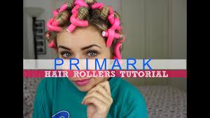 primark hair rollers tutorial overnight heatless curls