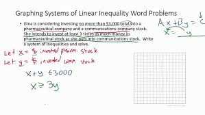 stunning systems of inequality word problems example 2 you equations worksheets maxresde