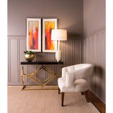 gold console table. Titan Lighting Deco Gold And Black Console Table
