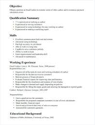 Cashier Resume Examples Delectable Resume Cashier Sample Cashier Resume Template Example Of All Pics
