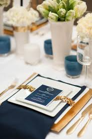 Blue And Gold Table Setting 17 Best Images About Wedding Table Decorations On Pinterest