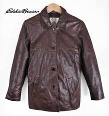 ed bauer ed bauer leather jacket brown las xs