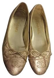Chanel Quited Flats - Up to 70% off at Tradesy & Chanel Quilted Ballet Gold Flats Adamdwight.com