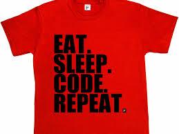 a programmer wrote an essay that rips apart a popular coding t eat sleep code t shirt
