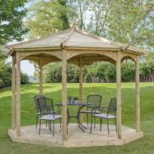 grange regis octagonal wooden garden gazebo
