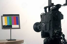 Video Camera Test Chart Adusting Studio Camera Colour Using A Colour Test Chart
