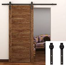 tcbunny 6 6 feet sliding barn door hardware set superior quality track kit antique style black