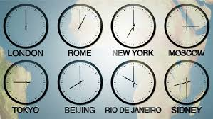 24h world time zone time in 8 capitals earth spinning in the background seamlessly loopable
