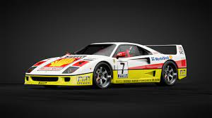 It is also available in gran turismo sport, where it was added as part of update 1.10, released on december 22, 2017. Ferrari F40 Race Car Car Livery By Eastriverpipe Community Gran Turismo Sport